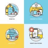Επίπεδο σχέδιο εννοιών γραμμών Στοκ εικόνες με δικαίωμα ελεύθερης χρήσης