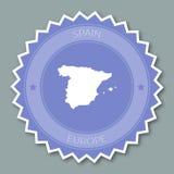 Επίπεδο σχέδιο διακριτικών της Ισπανίας απεικόνιση αποθεμάτων