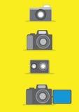 Επίπεδο σχέδιο καμερών Στοκ φωτογραφίες με δικαίωμα ελεύθερης χρήσης