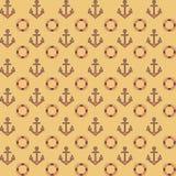 Επίπεδο σχέδιο ναυτικών με τις άγκυρες ελεύθερη απεικόνιση δικαιώματος