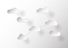Επίπεδο σχέδιο σύννεφων με την αλυσίδα Στοκ φωτογραφία με δικαίωμα ελεύθερης χρήσης