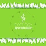 Επίπεδο σχέδιο της οικολογίας, περιβάλλον, πράσινος καθαρός Στοκ εικόνες με δικαίωμα ελεύθερης χρήσης