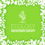 Επίπεδο σχέδιο της οικολογίας, περιβάλλον, πράσινος καθαρός Στοκ Εικόνες
