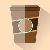 Επίπεδο σχέδιο φλυτζανιών καφέ - διανυσματική γραφική απεικόνιση Στοκ φωτογραφία με δικαίωμα ελεύθερης χρήσης