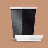 Επίπεδο σχέδιο φλυτζανιών καφέ - διανυσματική γραφική απεικόνιση Στοκ φωτογραφίες με δικαίωμα ελεύθερης χρήσης