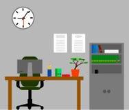 Επίπεδο σχέδιο δωματίων γραφείων ελεύθερη απεικόνιση δικαιώματος