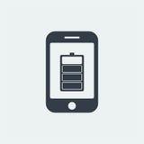 επίπεδο σχέδιο seo ιστοχώρου εικονιδίων μπαταριών smartphone, εικονίδιο συσκευών Στοκ φωτογραφία με δικαίωμα ελεύθερης χρήσης