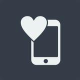 επίπεδο σχέδιο seo ιστοχώρου εικονιδίων smartphone, εικονίδιο συσκευών Στοκ Εικόνες