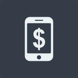 επίπεδο σχέδιο seo ιστοχώρου εικονιδίων smartphone, εικονίδιο συσκευών Στοκ φωτογραφία με δικαίωμα ελεύθερης χρήσης