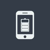 επίπεδο σχέδιο seo ιστοχώρου εικονιδίων smartphone, εικονίδιο συσκευών Στοκ Εικόνα