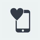 επίπεδο σχέδιο seo ιστοχώρου εικονιδίων smartphone, εικονίδιο συσκευών Στοκ Φωτογραφία