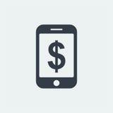 επίπεδο σχέδιο seo ιστοχώρου εικονιδίων smartphone, εικονίδιο συσκευών Στοκ Φωτογραφίες