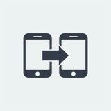 επίπεδο σχέδιο seo ιστοχώρου εικονιδίων smartphone, εικονίδιο συσκευών Στοκ εικόνα με δικαίωμα ελεύθερης χρήσης