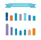 Επίπεδο σύγχρονο infographics οικοδόμησης Στοκ φωτογραφίες με δικαίωμα ελεύθερης χρήσης