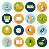 Επίπεδο σύνολο εικονιδίων επιχειρησιακής έννοιας Ιστού infographic σε απευθείας σύνδεση Στοκ φωτογραφίες με δικαίωμα ελεύθερης χρήσης