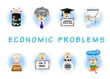 Επίπεδο σύνολο οικονομικών προβλημάτων Στοκ φωτογραφίες με δικαίωμα ελεύθερης χρήσης