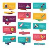 Επίπεδο σύνολο υποβάθρου εμβλημάτων παιχνιδιών, eps10 Στοκ φωτογραφία με δικαίωμα ελεύθερης χρήσης