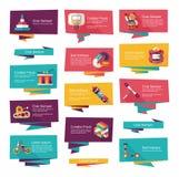 Επίπεδο σύνολο υποβάθρου εμβλημάτων παιχνιδιών, eps10 Στοκ εικόνα με δικαίωμα ελεύθερης χρήσης