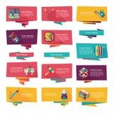 Επίπεδο σύνολο υποβάθρου εμβλημάτων παιχνιδιών, eps10 Στοκ φωτογραφίες με δικαίωμα ελεύθερης χρήσης