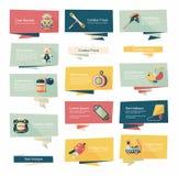 Επίπεδο σύνολο υποβάθρου εμβλημάτων παιχνιδιών, eps10 Στοκ εικόνες με δικαίωμα ελεύθερης χρήσης