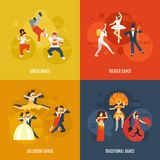 Επίπεδο σύνολο χορού Στοκ φωτογραφία με δικαίωμα ελεύθερης χρήσης