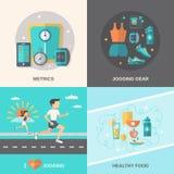 Επίπεδο σύνολο Jogging Στοκ εικόνες με δικαίωμα ελεύθερης χρήσης