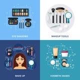 Επίπεδο σύνολο Makeup Στοκ φωτογραφίες με δικαίωμα ελεύθερης χρήσης