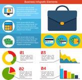 Επίπεδο υπόβαθρο επιχειρησιακού Infographic Στοκ Φωτογραφία