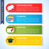Επίπεδο υπόβαθρο επιχειρησιακού Infographic Στοκ εικόνα με δικαίωμα ελεύθερης χρήσης