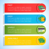Επίπεδο υπόβαθρο επιχειρησιακού Infographic Στοκ φωτογραφία με δικαίωμα ελεύθερης χρήσης