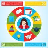 Επίπεδο υπόβαθρο επιχειρησιακού Infographic Στοκ φωτογραφίες με δικαίωμα ελεύθερης χρήσης