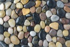 Επίπεδο χαλίκι Stone και υπόβαθρο βράχου ποταμών Στοκ φωτογραφία με δικαίωμα ελεύθερης χρήσης