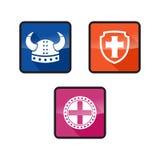Επίπεδο χρώμα λογότυπων Βίκινγκ Ελεύθερη απεικόνιση δικαιώματος