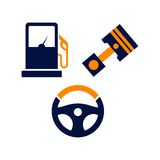 Επίπεδο χρώμα TemplateWith λογότυπων αυτοκινήτων Απεικόνιση αποθεμάτων