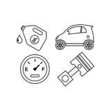 Επίπεδο χρώμα TemplateWith λογότυπων αυτοκινήτων Ελεύθερη απεικόνιση δικαιώματος