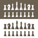 Επίπεδο ύφος σχεδίου κομματιών σκακιού Στοκ φωτογραφία με δικαίωμα ελεύθερης χρήσης