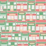 Επίπεδο bistro εστιατορίων καφέδων ύφους παπούτσια και καφές λίγης μικροσκοπικά καταστημάτων εικονιδίων καθορισμένα αγοράς τροφίμ Στοκ φωτογραφία με δικαίωμα ελεύθερης χρήσης