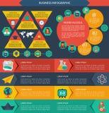 Επίπεδο infographic υπόβαθρο εκπαίδευσης. Στοκ Εικόνα