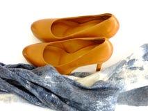 Επίσημα παπούτσια και μαντίλι στοκ φωτογραφία με δικαίωμα ελεύθερης χρήσης