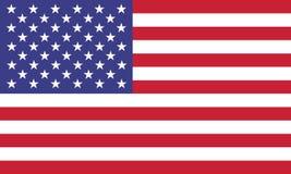 Επίσημες χρώματα ΑΜΕΡΙΚΑΝΙΚΩΝ σημαιών και απεικόνιση αναλογίας σωστά Στοκ Εικόνες