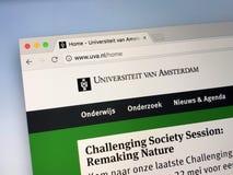 Επίσημη αρχική σελίδα του πανεπιστημίου του Άμστερνταμ UVA Στοκ εικόνες με δικαίωμα ελεύθερης χρήσης