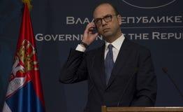 Επίσημη επίσκεψη του ιταλικού ξένου Υπουργού Angelino Alfano στη Σερβία Στοκ φωτογραφίες με δικαίωμα ελεύθερης χρήσης
