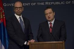 Επίσημη επίσκεψη του ιταλικού ξένου Υπουργού Angelino Alfano στη Σερβία Στοκ Εικόνα
