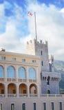 Επίσημη κατοικία του πρίγκηπα Μονακό, παλάτι του πρίγκηπα παλάτι του Μονακό, Μόντε Κάρλο, Genoese fortres Στοκ Εικόνες