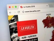 Επίσημος ιστοχώρος του Vuelta ένα España Στοκ Εικόνες