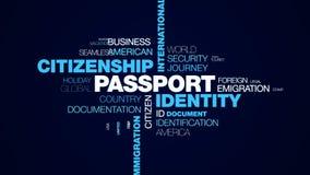 Επίσημος προορισμός μετανάστευσης τελωνειακής αναχώρησης αερολιμένων Διεθνών συνόρων υπηκοότητας ταυτότητας διαβατηρίων που ζωντα απεικόνιση αποθεμάτων