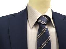 Επίσημο κοστούμι σε μια έκθεση που απομονώνεται στο λευκό Στοκ φωτογραφία με δικαίωμα ελεύθερης χρήσης