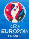 Επίσημο λογότυπο του ευρωπαϊκού πρωταθλήματος UEFA του 2016 στη Γαλλία Στοκ εικόνα με δικαίωμα ελεύθερης χρήσης