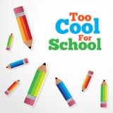Επίσης δροσίστε για το σχολικό διανυσματικό υπόβαθρο ελεύθερη απεικόνιση δικαιώματος