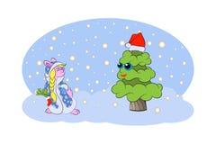 επίσης ως γνωστό χιόνι snegourochka της Ρωσίας κοριτσιών συλλογής κούκλα απεικόνιση αποθεμάτων